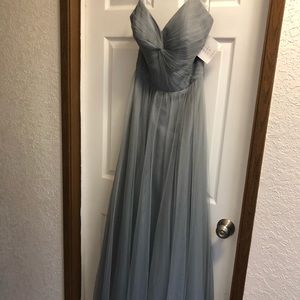 Strapless bridesmaid or prom gown